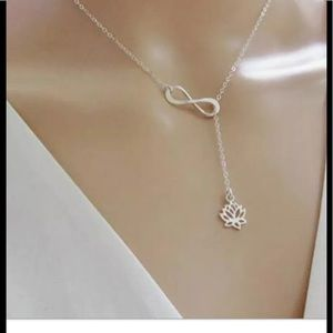 Jewelry - 🆕SILVER INFINITY LOTUS PENDANT NECKLACE